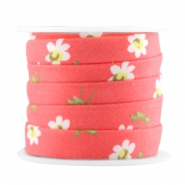 Trendy 10mm flat cord Dark coral pink