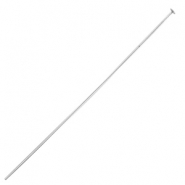 DQ metal findings headpin 70mm Silver (nickel free)