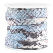Trendy 10mm flat cord snake Blue