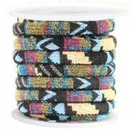 Flat 10mm Aztec cord Multicolor black yellow
