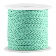 Woven waxed cord Turquoise green