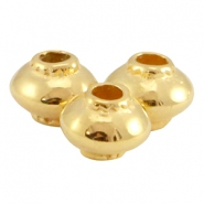 DQ metal cone shaped bead Gold (nickel free)