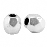DQ metal faceted bead Antique silver (nickel free)