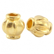 DQ metal bead 4x3.5mm Gold (nickel free)