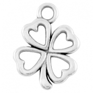 DQ metal clover four charm Antique silver (nickel free)