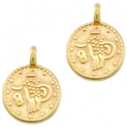 DQ metal coin charm Gold (nickel free)