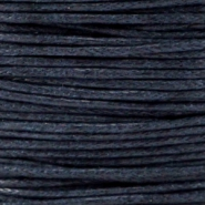 Waxed cord 1.0mm Dark navy blue