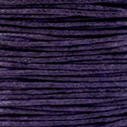 Waxed cord 1.0mm Dark Purple