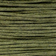 Waxed cord 1.0mm Army green