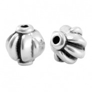 DQ metal bead 8mm Antique silver (nickel free)