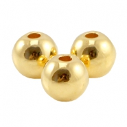 DQ metal bead 3.8mm Gold (nickel free)