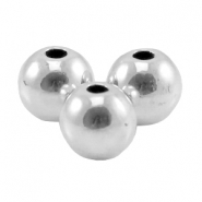 DQ metal bead 3.8mm Antique silver (nickel free)