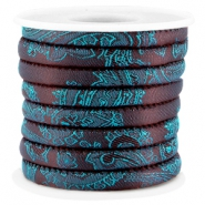 Trendy Baroque stitched cord 6x4mm Aubergine - blue