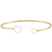 Metal bracelet heart Gold