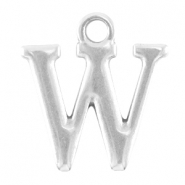 DQ metal lettercharm W Antique silver (nickel free)