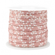 Trendy stitched cord 6x4mm Antique pink