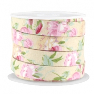 Trendy flat cord 10mm Beige - rose