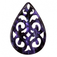 Polaris baroque pendants  Black - dark purple