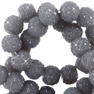 Sparkling beads 8mm Dark grey