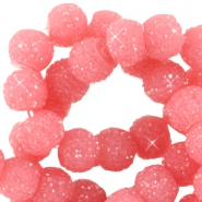 Sparkling beads 6mm Dark rouge pink
