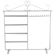 Metal jewellery stand combo large Grey