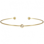 Metal diamond bracelet Gold