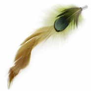 Duo feathers Fern green-dark green