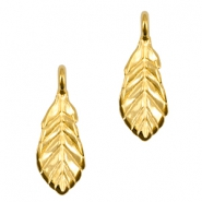 DQ metal charms leaf Gold (nickel free)