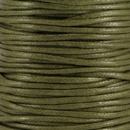 Waxed cord 2.0mm Army green