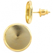 Metal earpins for 12mm cabochon Gold