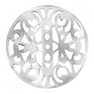 Round 35mm baroque Polaris pendants White grey