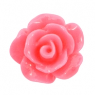 Shiny rose beads 10mm Light hot pink