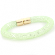 Crystal faceted bracelets Crysolite green - crystal