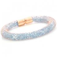 Crystal faceted bracelets Rose gold - aqua blue