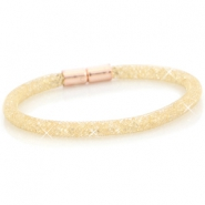 Single crystal faceted bracelet Gold - light colorado topaz