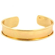 DQ metal bracelet base (for 10mm cord/leather) Gold (nickel free)