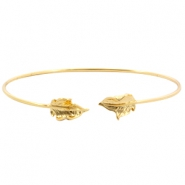 Metal bracelet leaf Gold