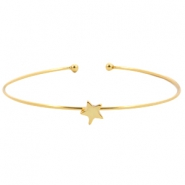 Metal bracelet star Gold