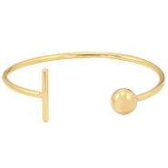 Stainless Steel bracelet bar&ball Gold