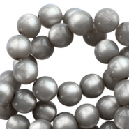 Super Polaris round 10mm beads Silver night