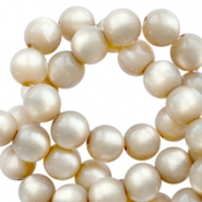 Super Polaris round 6mm beads Light taupe