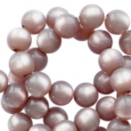 Super Polaris round 6mm beads Greige
