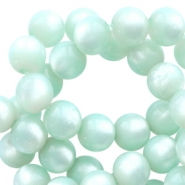 Super Polaris round 8mm beads Light aqua green