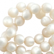 Super Polaris round 6mm beads Silk beige