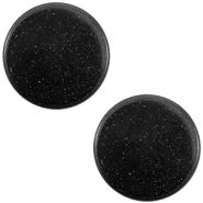 12mm flat Super Polaris cabochon Nero black