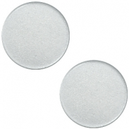 7mm flat Super Polaris cabochon Ice grey