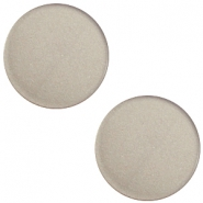 12mm flat Super Polaris cabochon Dusty grey