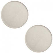 7mm flat Super Polaris cabochon Silver shade