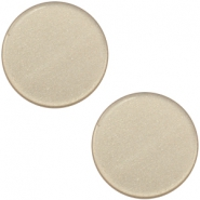 12mm flat Super Polaris cabochon Light taupe