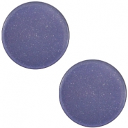 7mm flat Super Polaris cabochon Midnight blue